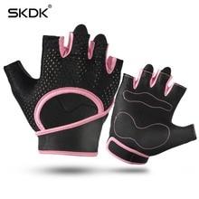 SKDK Half Finger Breathable font b Fitness b font Weight Lifting Crossfit Men Gym Gloves Wrist