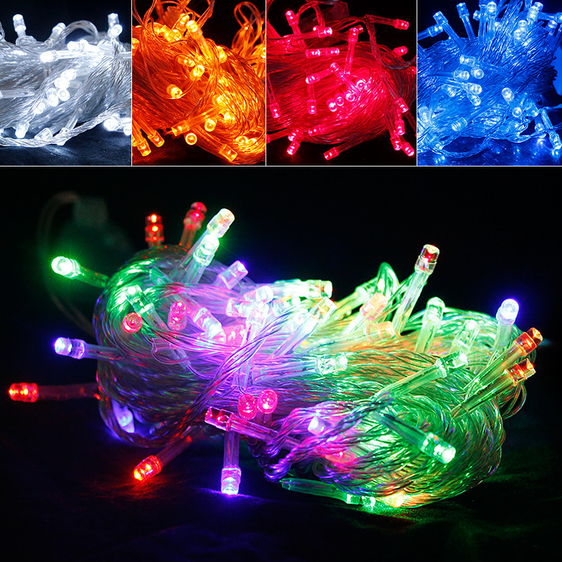 free shipping 8 m led activity lights masquerade party halloween christmas wedding supplies decorative light string