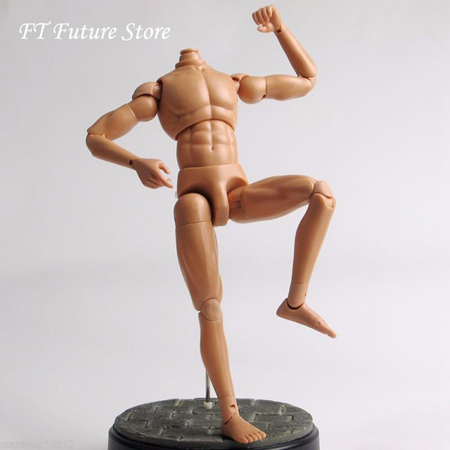 "12"" Figure Action Dragon Nude Muscle Man Body Figure Soldier Model Toy 1/6 Scale"