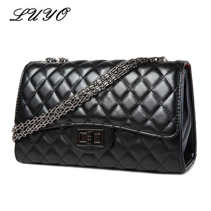 2016 Fashion Diamond Lattice Gold Chain Leather Luxury Handbags Women Messenger Bags Designer Shoulder Clutch Channels Bag hot boots women sexy black thigh high boots peep toe soft leather back zip high heels over the knee boots gladiator sandal boots