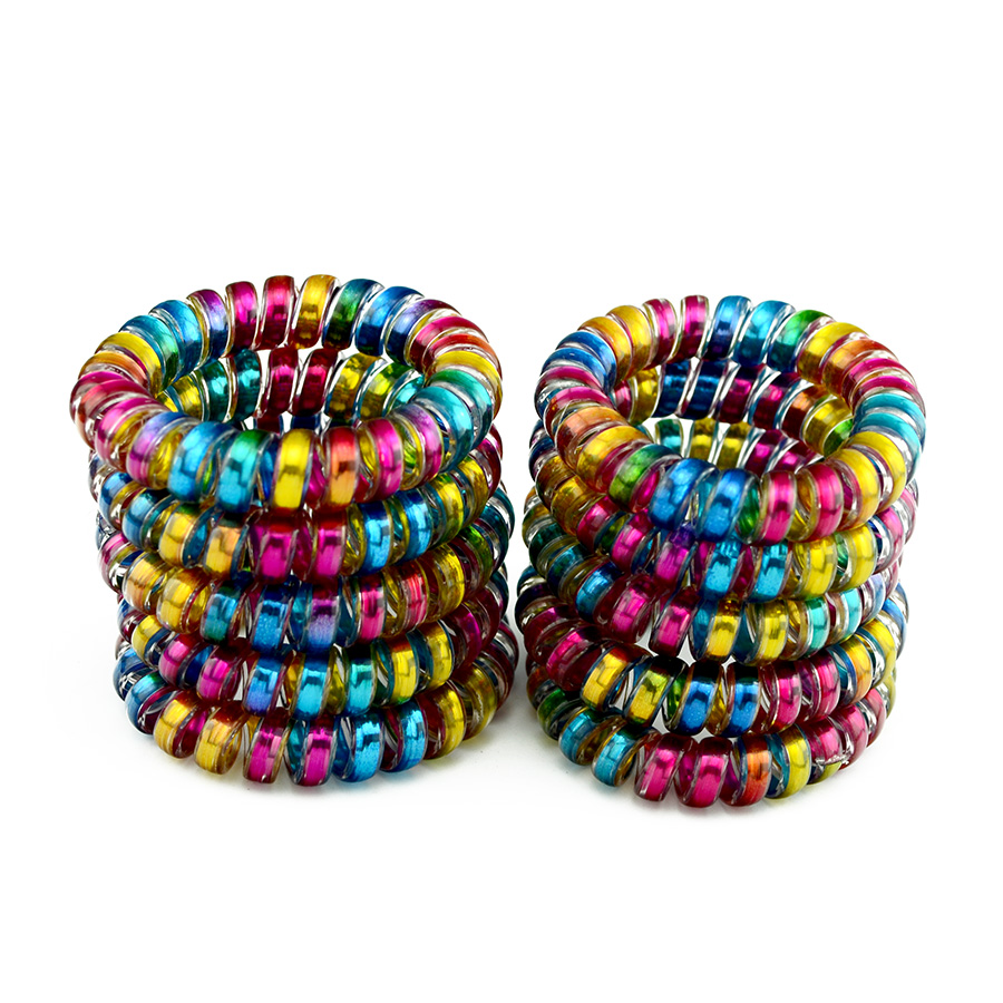 High Quality Big Telephone Wire Line Cord Holders Striped Colorful Rubber Band Hair Ring Elastic Hair Bands Gum Hair Accessories 10pcs lot high quality telephone line headband gum elastic hair bands candy color rubber band for women girls hair accessories