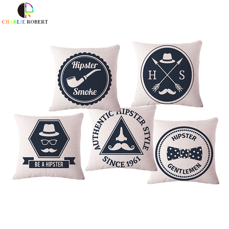 Hipster Fashion Sofa Chair Decorative Seat Back Cushion Without Core Home Car Sofa Decorative Throw Pillow Cojin Coussin Emoji