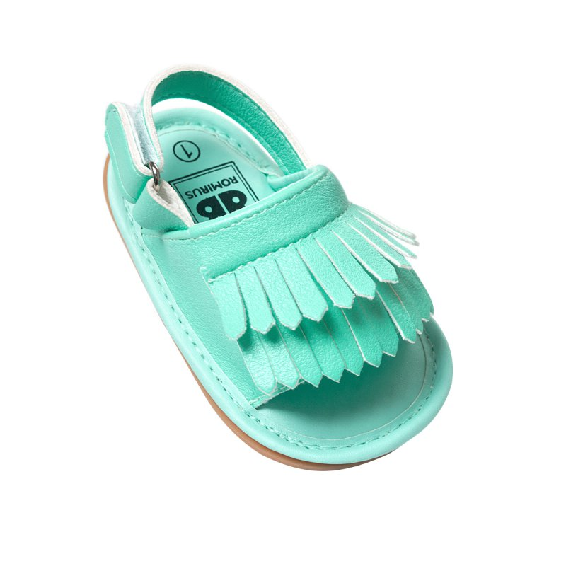ROMIRUS 2018 여름 PU 가죽 단단한 고무 단독 아기 모카신 소녀 솔리드 아기 신발 유아 유아 먼저 워커 미끄럼 방지 신발