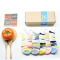5pairs/set Gift Package DearDeer girl summer short socks cotton Knitting Camouflage color Warm Cozy sports sock and free size