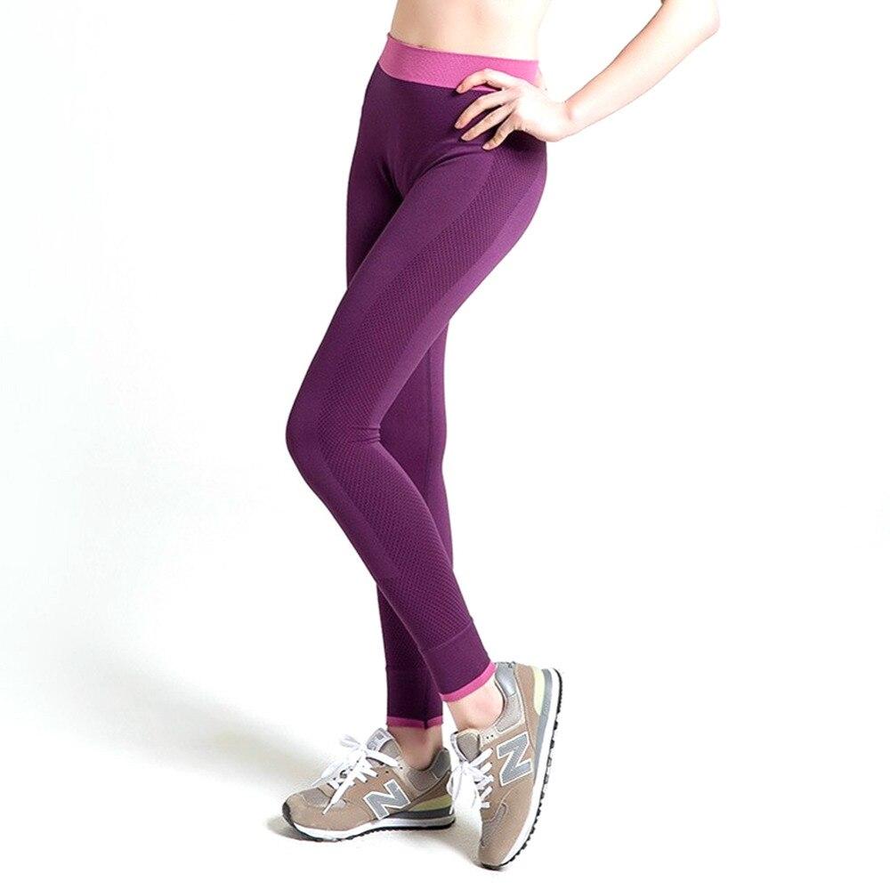 Prix pour Femmes Yoga Pantalon Sport Pantalon Collants Mèche Femelle Sport Élastique Fitness Course Pantalon Gym Mince Leggings ropa deportiva Capris