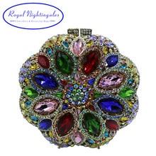 Flower Purses For Girls Bling Rhinestone Crystal Evening Clutch Bag