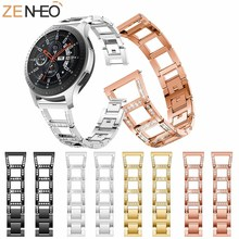 22mm Watchband Stainless Steel Strap for Samsung Gear S3 Frontier/Classic For Galaxy 46mm Watch Metal Wristband