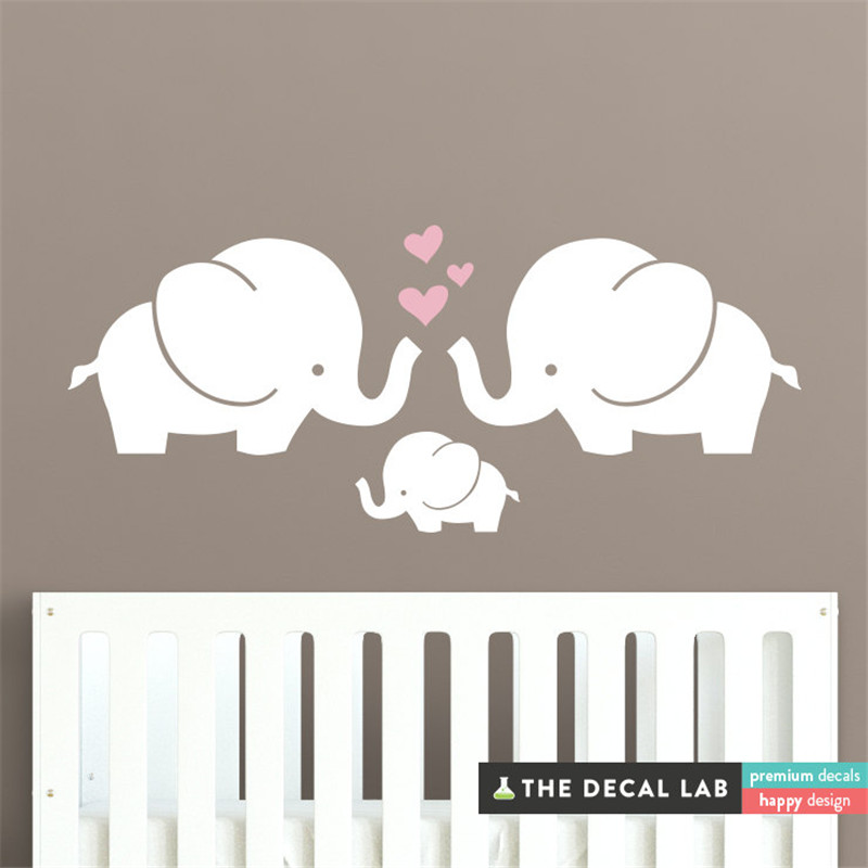 Aliexpress.com : Buy Elephant Family Wall Decal Stickers