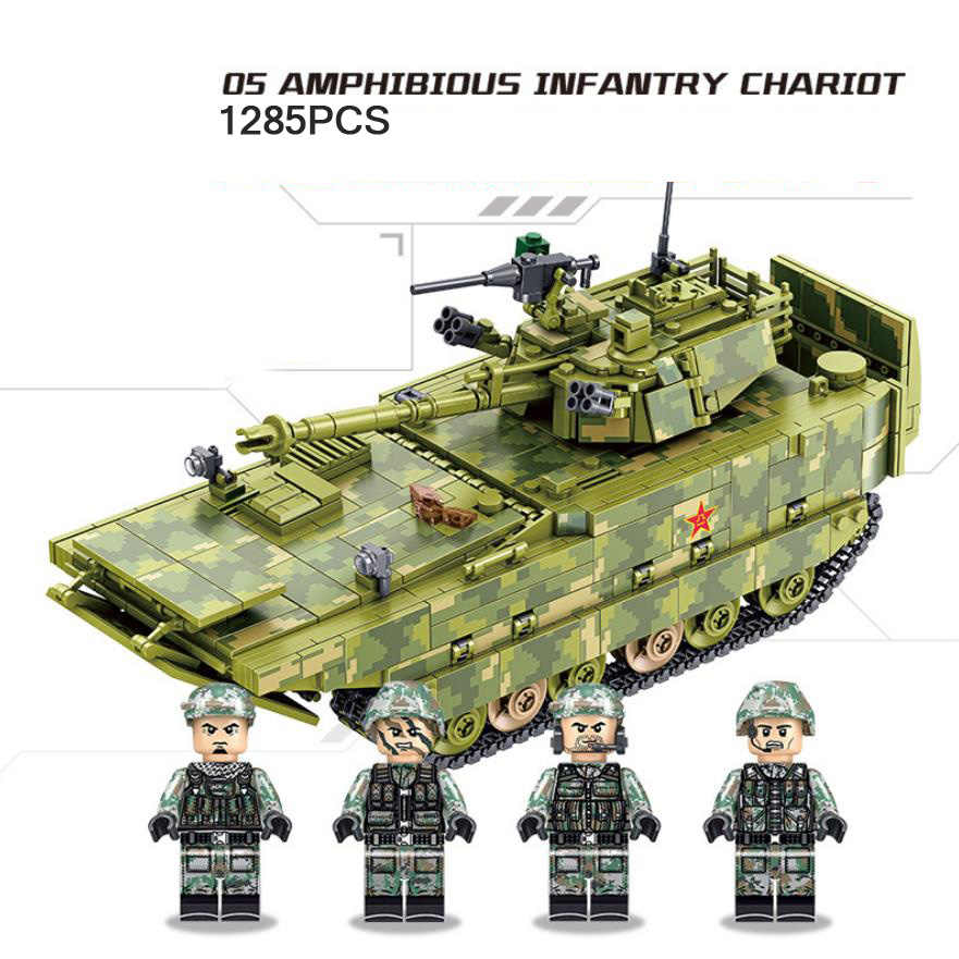 Modern military china ZBD-05 Amphibious Infantry Fighting Vehicle batisbricks figures moc block ww2 army forces minifigs toys