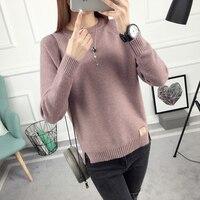 2017 New Winter Jacket Sweater Shirt Korean Female Spring Coat Long Sleeved Pullover Sweater