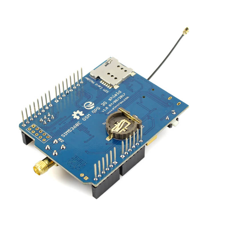 Elecrow GSM GPRS EDGE SIM5360E 3G Shield for Arduino Uno Mega Module A GPS Micro SIM Card 3G Network eCALL Development Board in Integrated Circuits from Electronic Components Supplies