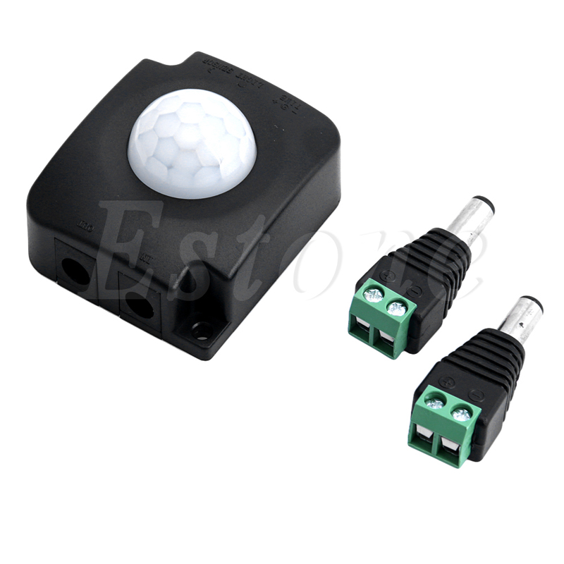 1pc Automatic DC 12V-24V 10A Infrared PIR Motion Sensor Switch For LED Strip Black
