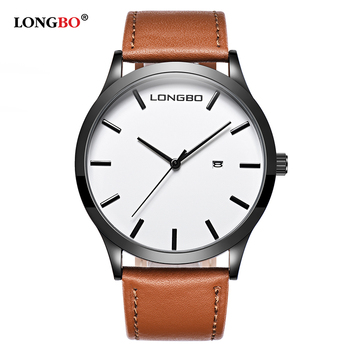 New Arrival Luxury Leather Belt Watch Date Calendar Men Waterproof 1