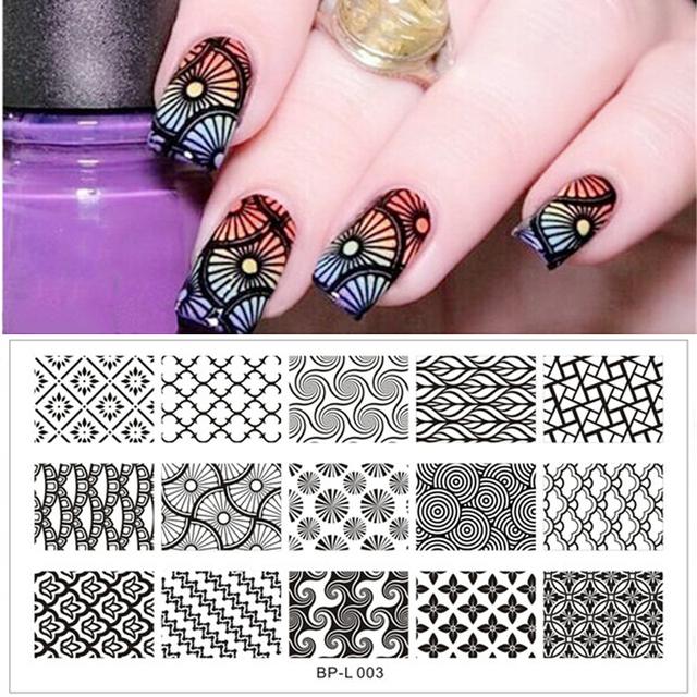 Born pretty bp l003 large designs nail art stamp template image born pretty bp l003 large designs nail art stamp template image plate 125 x 65 prinsesfo Image collections
