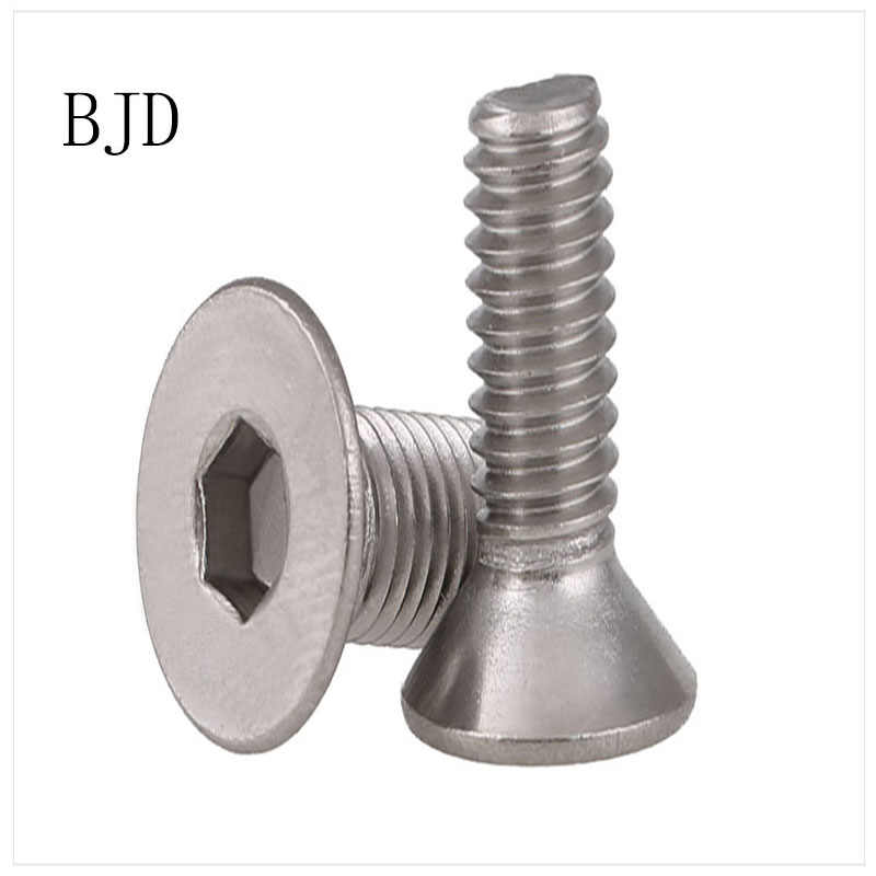 50 piezas M2 tornillos de 2mm DIN7991 seis ángulo tornillo de cabeza plana en acero inoxidable adecuado para todo tipo de modelo Juguetes