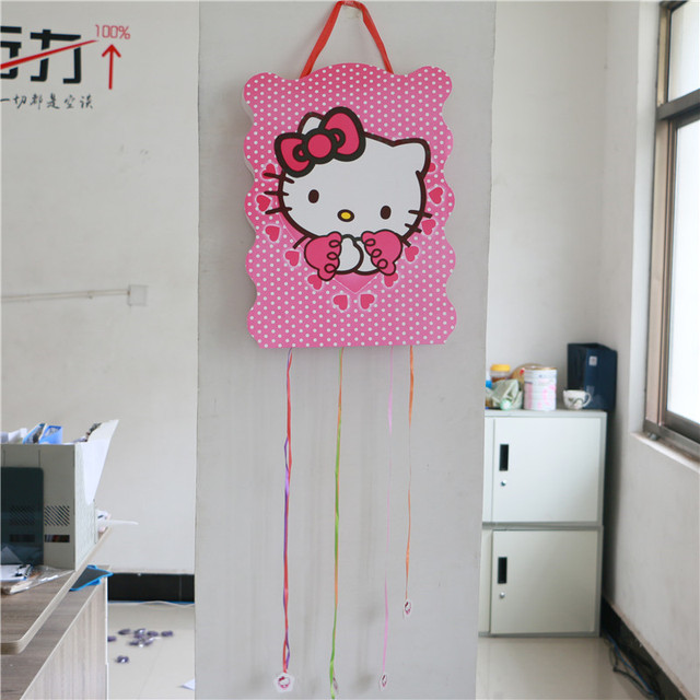 Kids Favors Game Gifts Baby Shower Hello Kitty Cartoon Theme Paper
