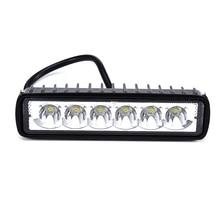 светодиодная балка 18 Вт светодиодный свет бар внешний дальнего света пятно туман Offroad автомобилей Светодиодный светильник LED 12 В для jeep BMW внедорожник автомобиль-Стайлинг