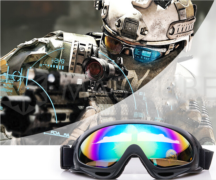 2016 High Quality Outdoor Windproof Glasses Ski Goggles Dustproof Snow Glasses Men Motocross Riot Control X400 Goggles image