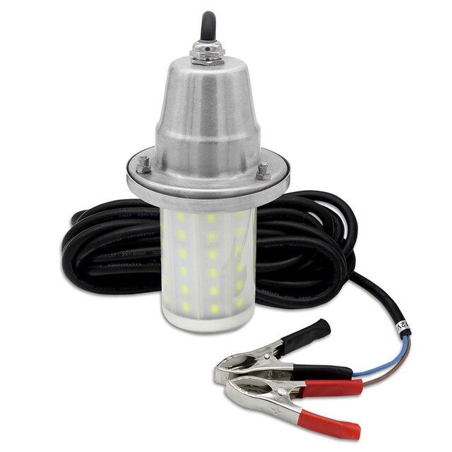 30 w Attrattore Pesce Lampada IP68 Impermeabile Luce Subacquea Mare di Notte di Pesca Richiamo LED di Illuminazione DC12V