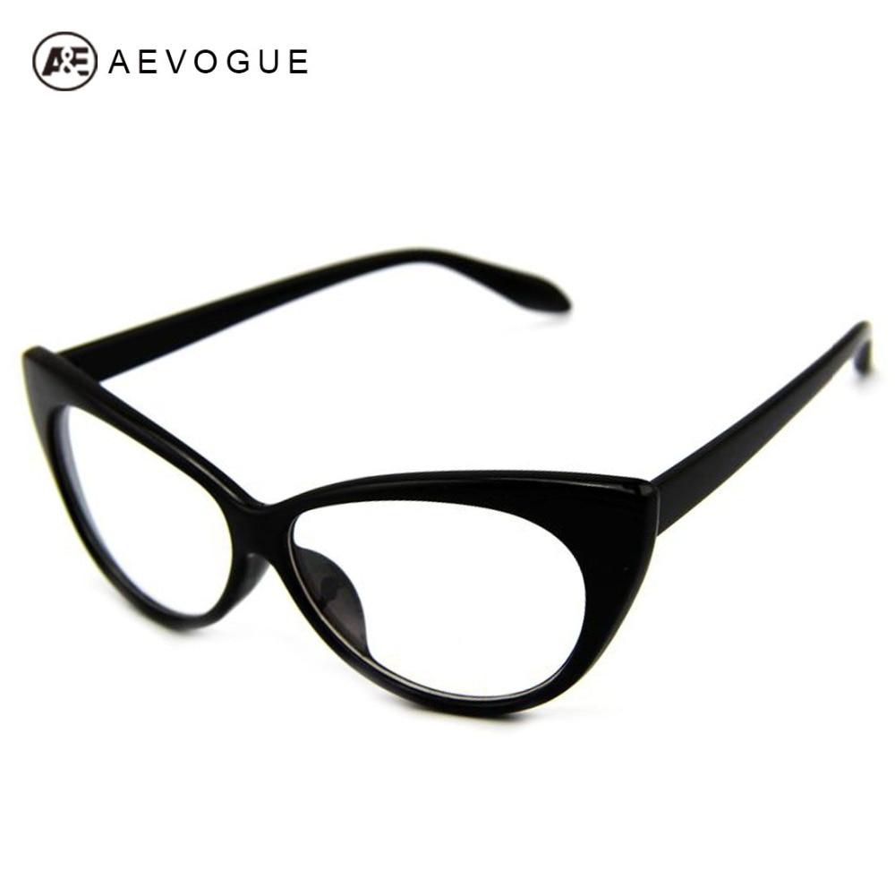 Cat Eye Frame Reading Glasses : AEVOGUE Plain Reading Glasses Vintage Cats Eye Modelling ...