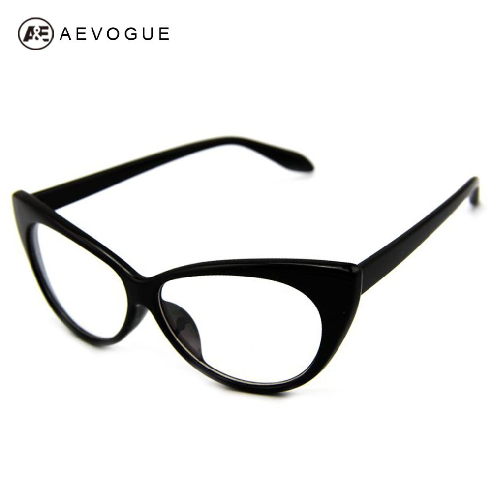 AEVOGUE Plain Reading Glasses Vintage Cat's Eye Modelling Sunglasses Women Frame  Eyewear Clear Lens  Eyewear  DT0083
