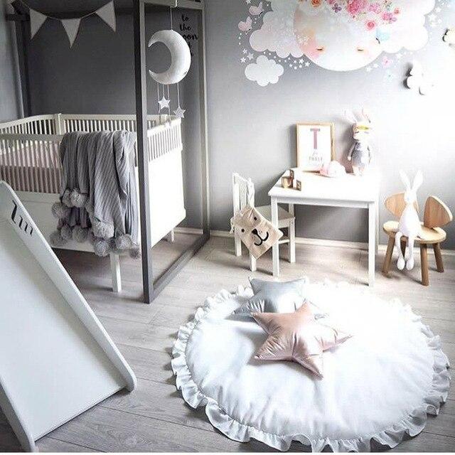 Neue Baby Spiel Mat Prinzessin Spitze Mädchen Kinder Teppich Spielmatte  Baby Bettwäsche Decke Kinderzimmer Dekoration Boden
