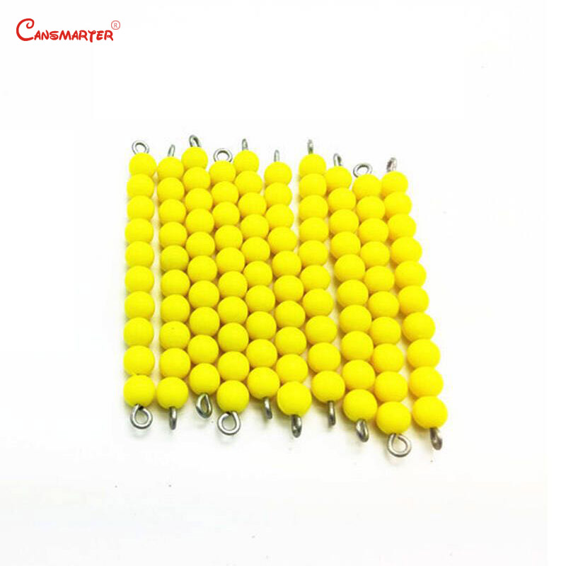 Math Exercises Yellow Beads Chains Wooden Box Professional Montessori Student Teaching Number Educational Toys Children MA039 3 in Math Toys from Toys Hobbies