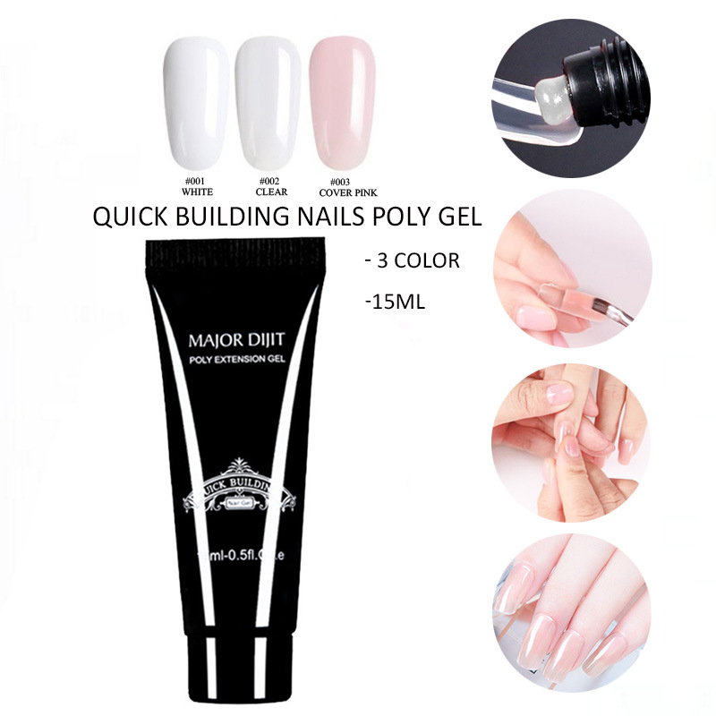 Poly Gel Finger Nail Extension UV LED Jelly Hard Nails Gel Acrylic Builder Fast Dry KG66 in Nail Gel from Beauty Health