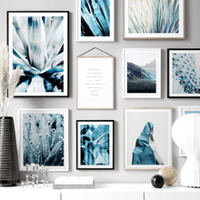 Cactus Agave Aloe Banana Leaf Quote Wall Art Canvas Painting Nordic Posters And Prints Plant Pictures For Living Room Decor