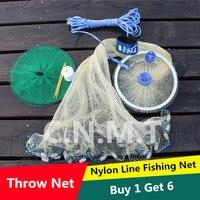 Nylon Line Fishing Net Fishing Network Lead Sinkers Easy To Throw Net Large Trap Float Nasse
