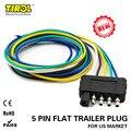 TIROL 5-Way плоский трейлер провода жгут удлинитель разъем с 36 дюймов Длина кабеля концевой разъем T24510a Бесплатная доставка