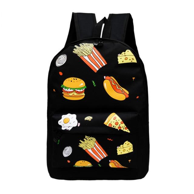 Рюкзак гамбургер купить детские рюкзаки вязанные крючком