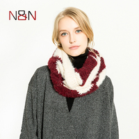 NN 2017 Winter Cable Ring Scarf Women Knitting Infinity Scarves Knitted Thick Warm Neck Circle Shawls