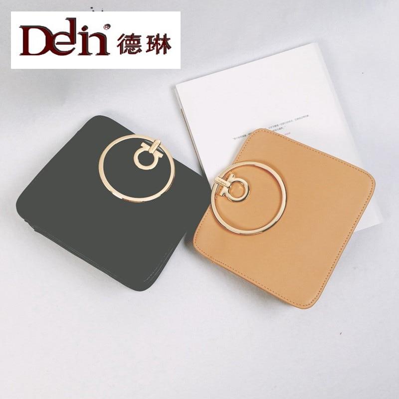 DELIN Manufacturers selling 2017 new female bag ring hand carry little single shoulder bag Han edition leisure bag, bag