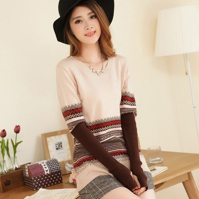 Adohon 2018 женские зимние кашемировые свитера и auntmun женские трикотажные пуловеры высокое качество теплые женские утолщение вышивка