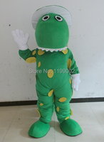 green dinosaur mascot costume with white hat dorothy costumes Free shipping