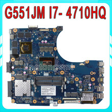 Original For ASUS G551JM Motherboard N551JM REV2.0 processor i7-4710HQ GeForce GTX860M 2GB HM86 GDDR5 VRAM 100% Tested
