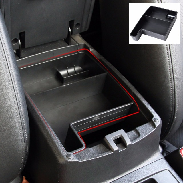 Seguimiento # Ajuste Perfecto Nuevo Apoyabrazos Coche Caja de Almacenamiento Secundario caja Para Nissan Rogue X-trail 2014 2015 Dedicado Negro de Alta calidad