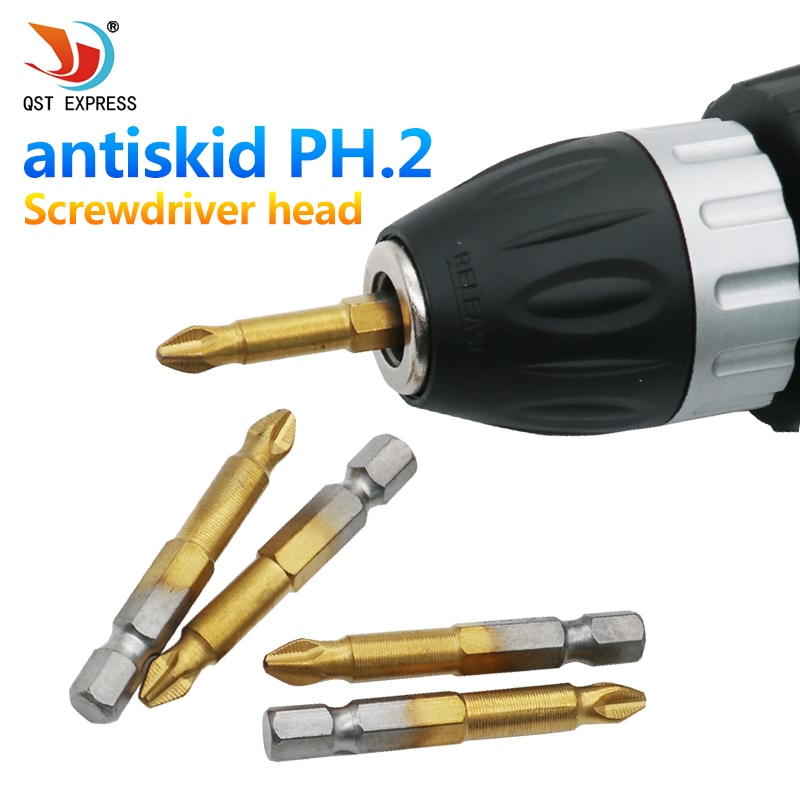 3Pcs/Set Titanium Coated Anti Slip Phillips 1/4
