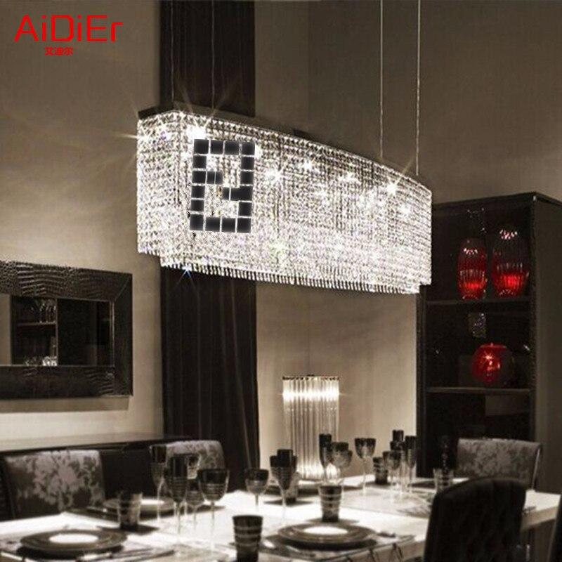 Рестораны LED Спальня светильник зал люстра простые прямоугольные бар столовая освещения творческие блюда лампы