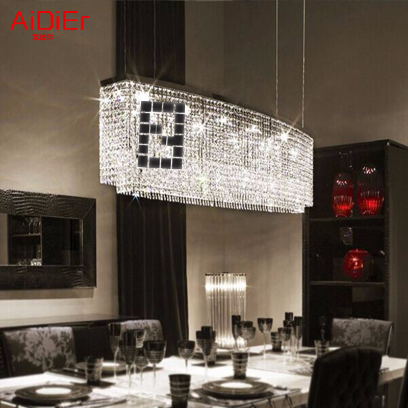 Restaurantes Dormitorio led lámpara de araña Sala rectangular simple bar comedor lámparas de iluminación creativa de comidas