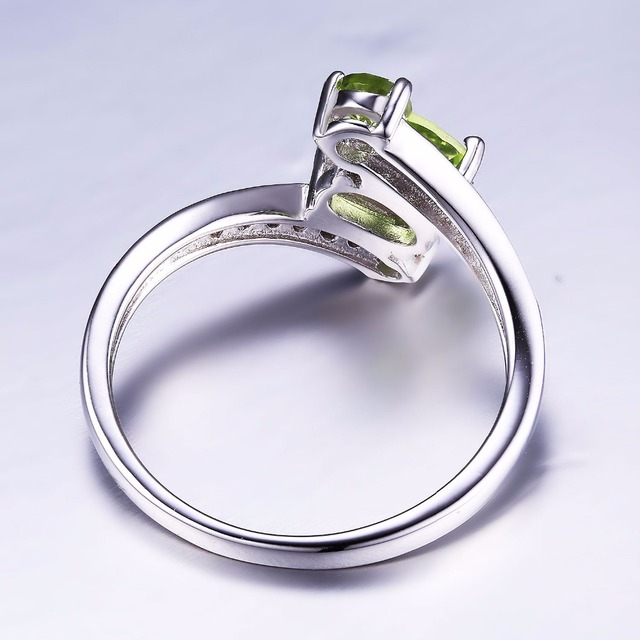 JewelryPalace 3 Stones Natural Peridot Ring Gemstone Solid 925 Sterling Silver Women Hot Fabulous Vintage Charm Fine Jewelry