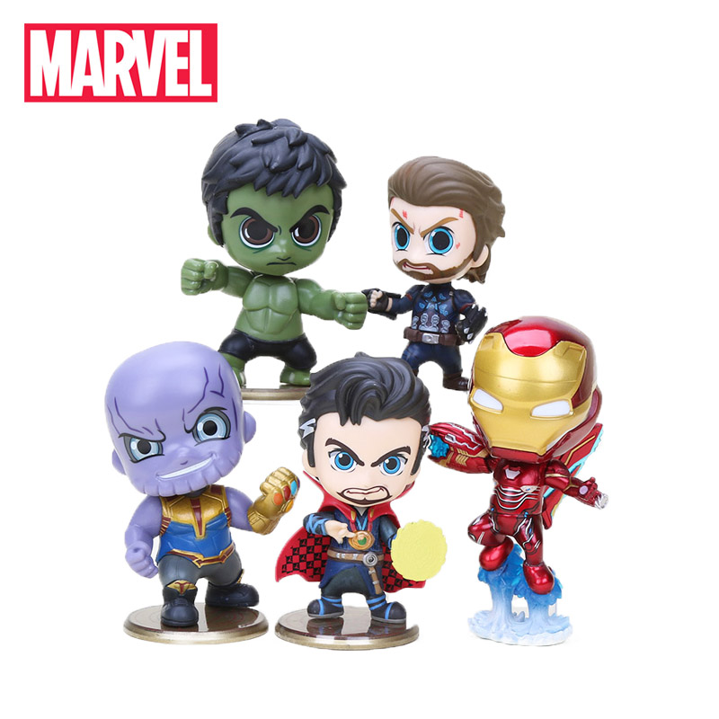 5pcs 10-12cm Marvel Toys Avengers Endgame Thonas Captain America Iron man Action Figures Doctor Strange Hulk Collectible Model(China)
