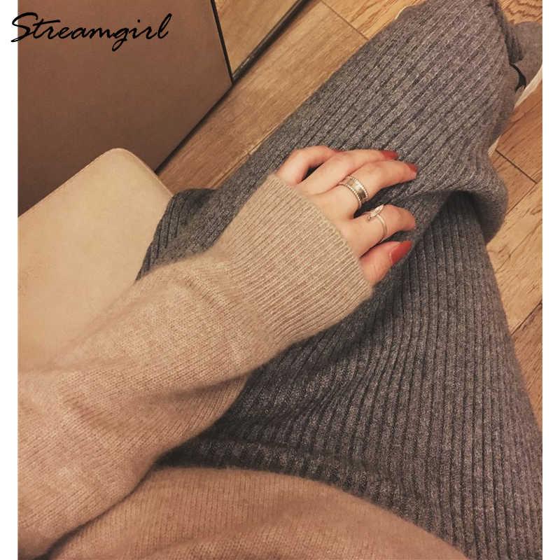 Streamgirl Winter Kasjmier Trui Vrouwen Truien En Pullovers Zwarte Coltrui Vrouwen Kasjmier Jumper Warme Dikke Trui Vrouwelijke