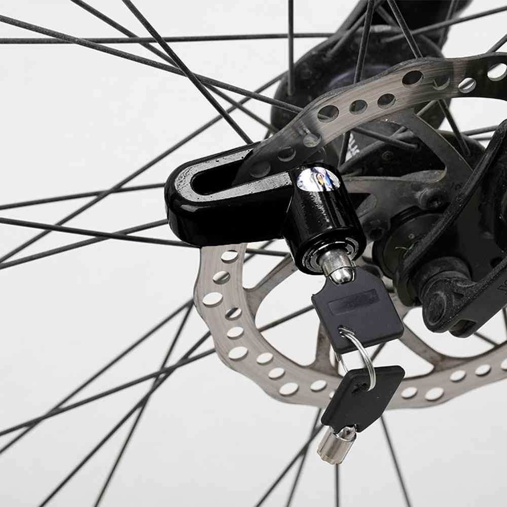 Tahan Lama Skuter Bersepeda Keselamatan Anti-Theft Disk Disc Sepeda Motor Rem Rotor Kunci Besar untuk Luar Ruangan