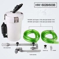 SUNSUN Fish Tank Filter Barrel HW 602B HW 603B 6W 110V 220V Sponge Filter Aquarium Accessories HW 602/603 Fish Tank Front Barrel