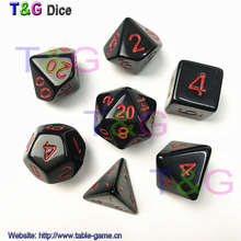New Dice 7pcs/set High Quality Colorful Dice Set D4,D6,D8,D10,D10%,D12,D20 dungeons and dragons,novelty RPG Digital Dice