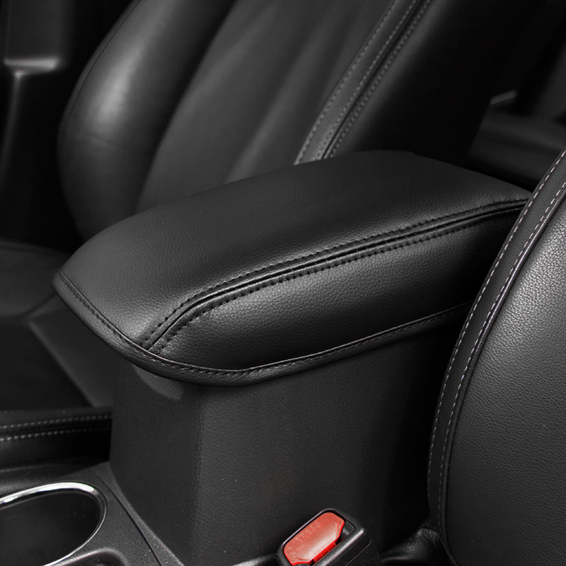 KOUVI 1pc Super fiber leather car armrest cover box protection for 2014 2017 Toyota Corolla accessories in Interior Mouldings from Automobiles Motorcycles