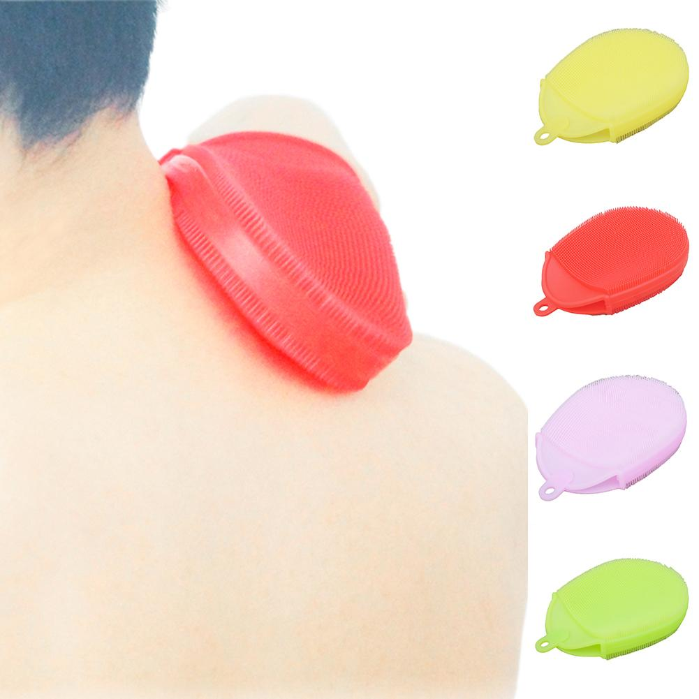 Silicone Bath Brush Body Scrubber Bath Glove Anti Cellulite Shower  Brush Scrub