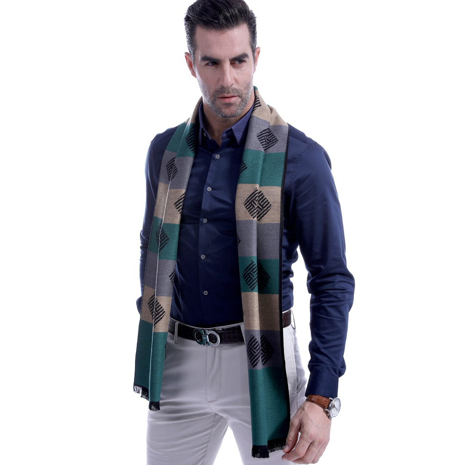 The new cashmere striped men scarf collar